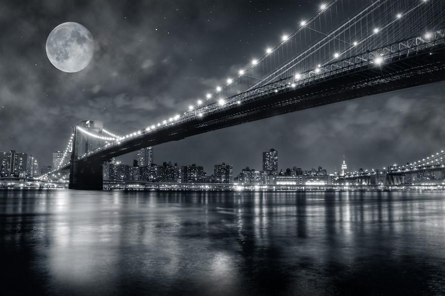 Фотообои Бруклинский мост ЧБ