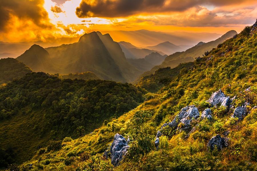 Фотообои Горы на закате