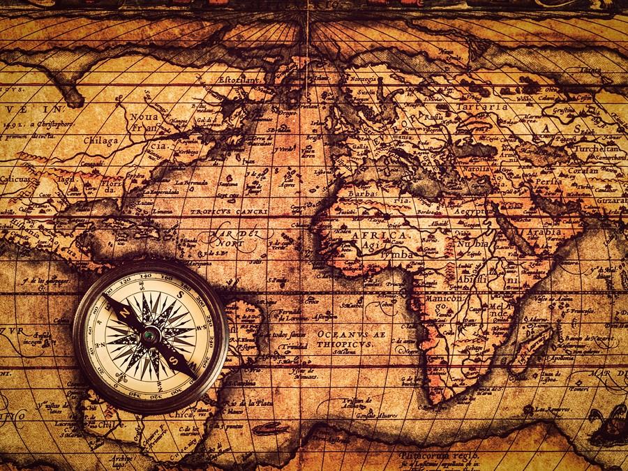 Фотообои Древняя карта мира