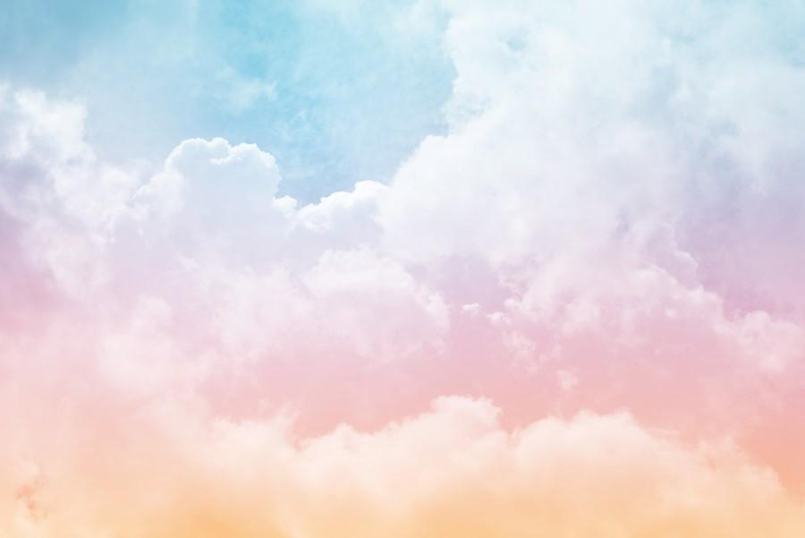 Фотообои Разноцветные облака