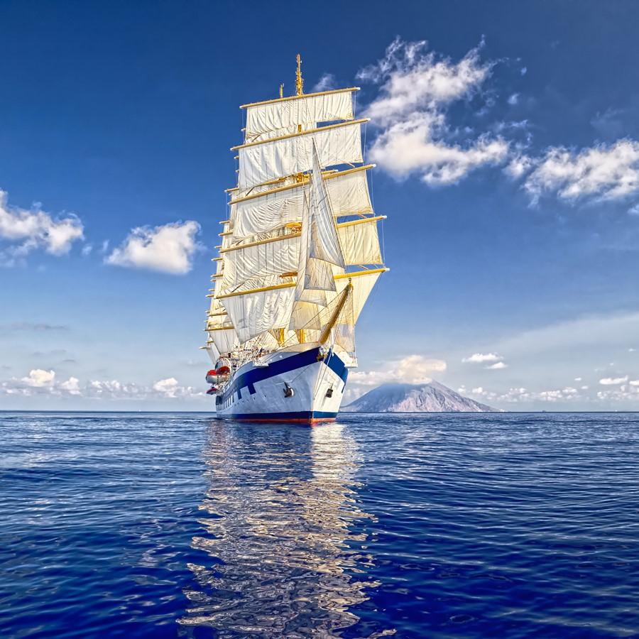 Фотообои Синий фрегат