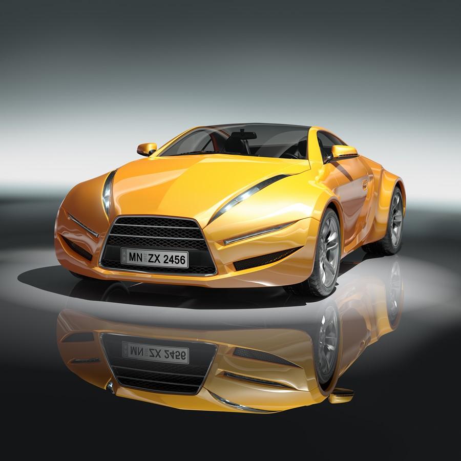 Фотообои Желтый суперкар