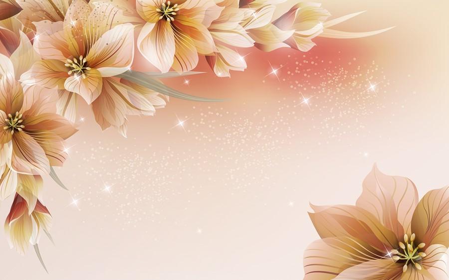 Фотообои Рисованные цветы