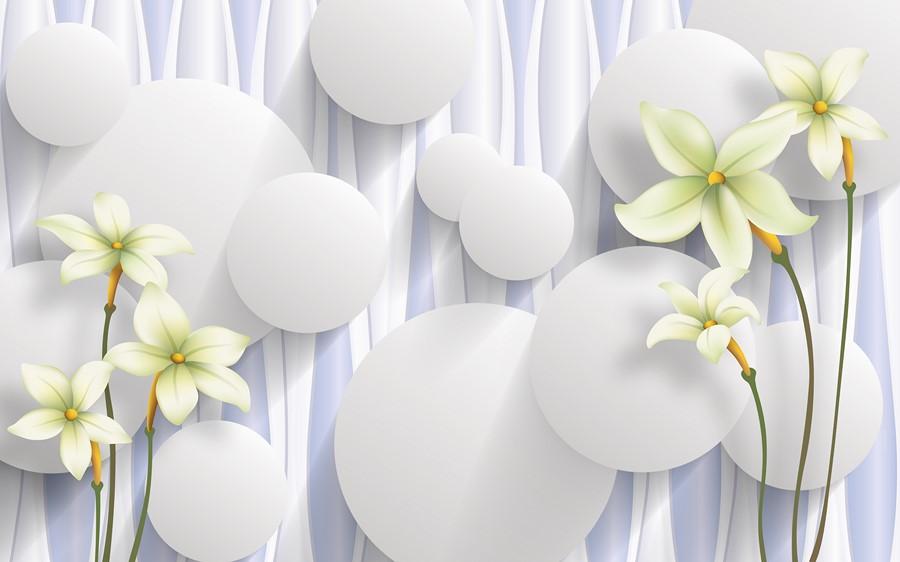 Фотообои Рисованные лилии