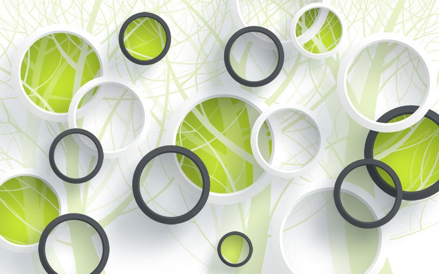 Фотообои Зелёные круги