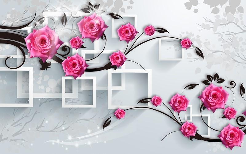 Фотообои Розы на фоне