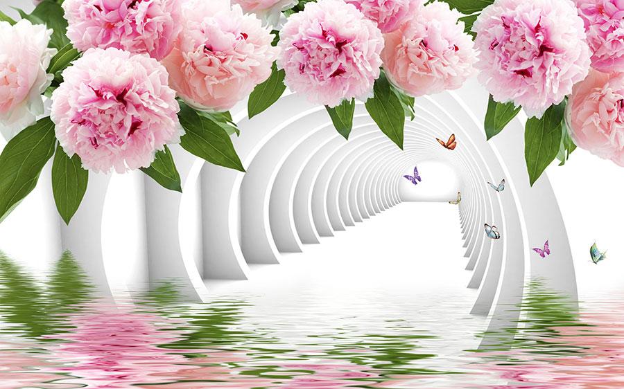 Фотообои Нежные розовые пионы