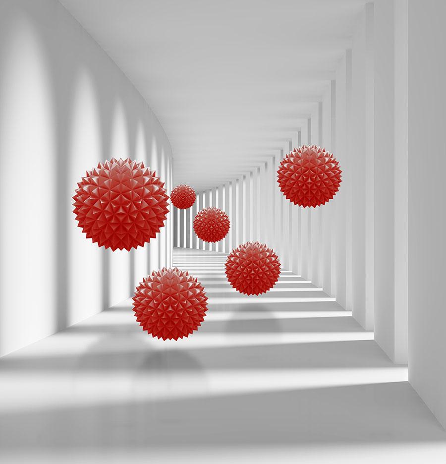 Фотообои Красные сферы