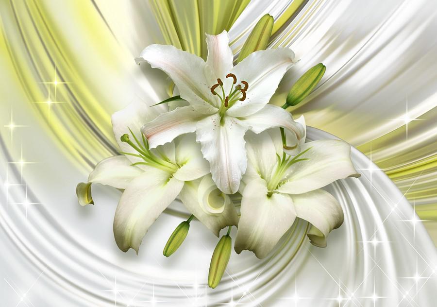 Фотообои Белые лилии