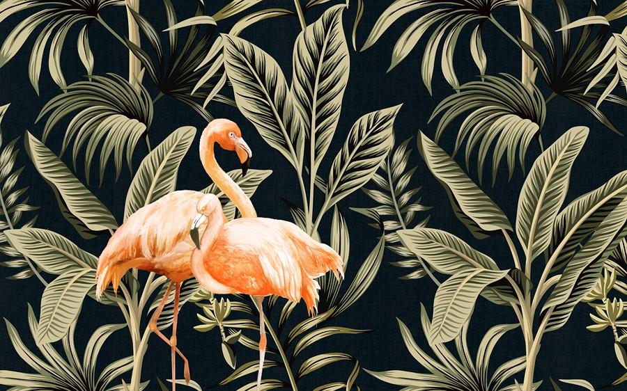 Фотообои Фламинго на фоне
