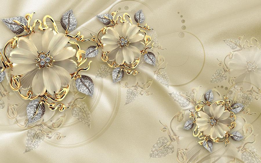 Фотообои Золотистые цветы
