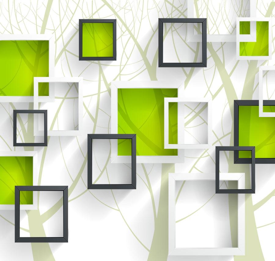 Фотообои Зелёные квадраты