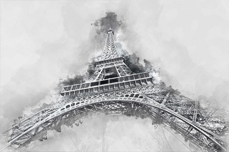 Фотообои Эйфелева башня Перспектива