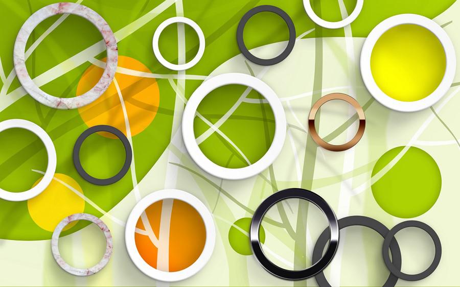 Фотообои Разноцветные круги