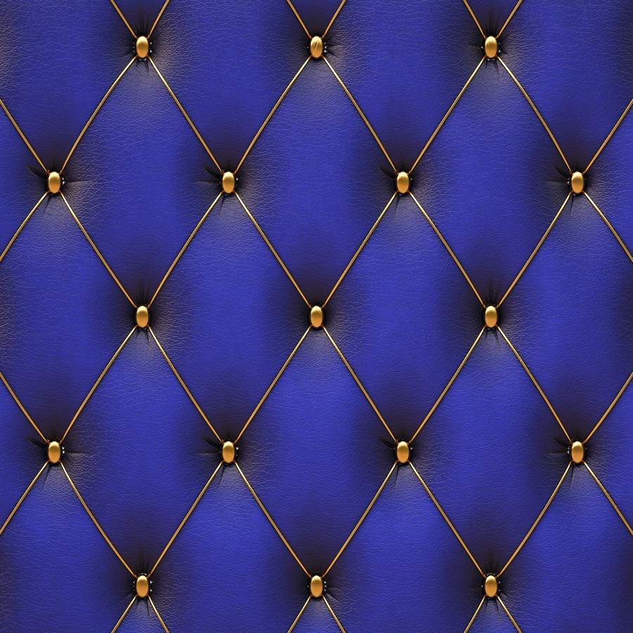 Фотообои Синяя обивка