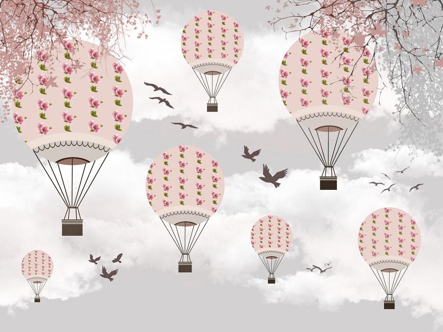 Фотообои Японские шары серый