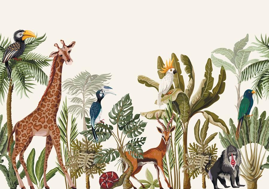 Фотообои Тропическая фауна