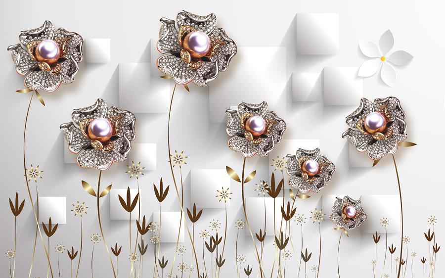 Фотообои Цветы-бижутерия
