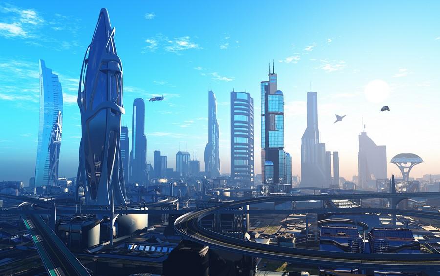 Фотообои Город в будущем