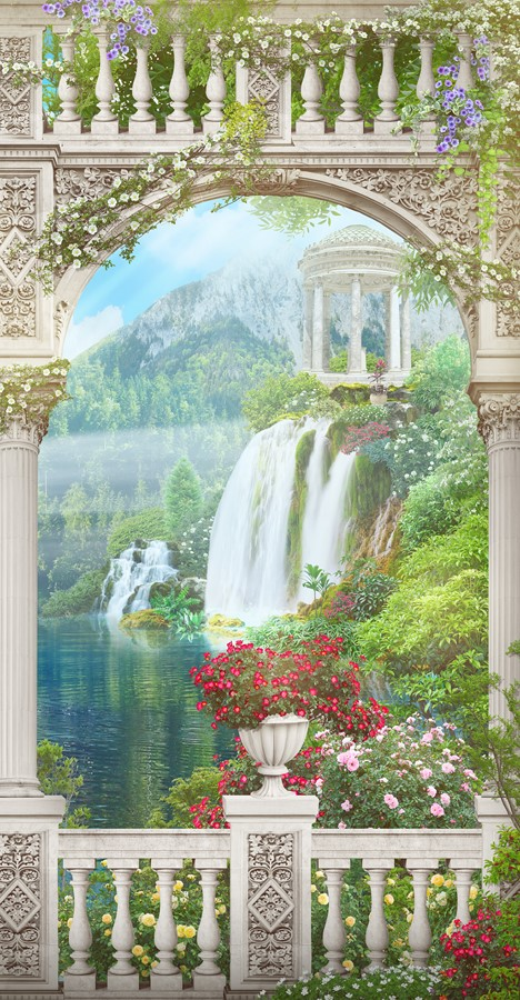 Фотообои Вид на водопад