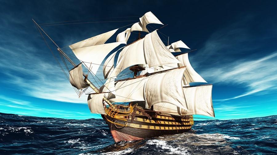Фотообои Парусный корабль