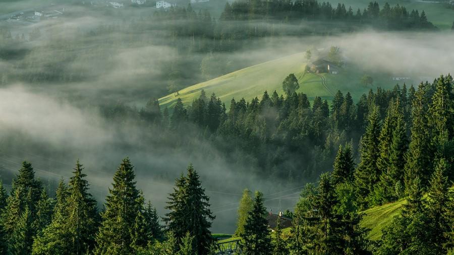Фотообои Туманные холмы