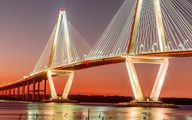 Фотообои Мост на закате