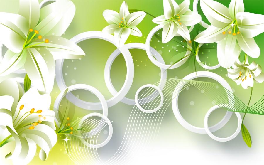 Фотообои Пышные лилии