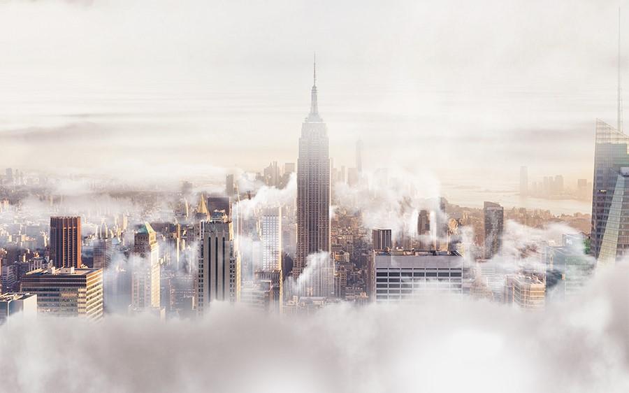 Фотообои Туман в Нью-Йорке