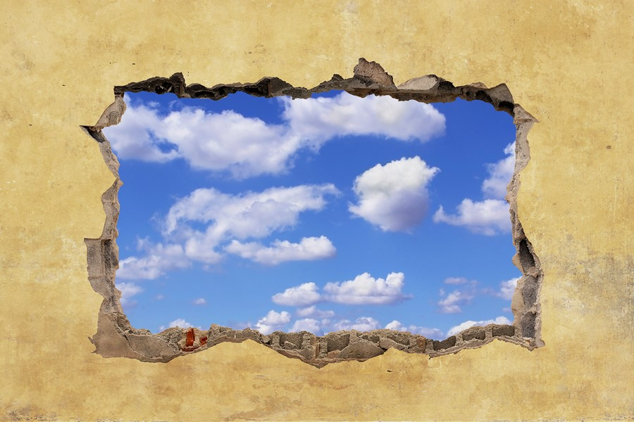 Фотообои Окно в небо