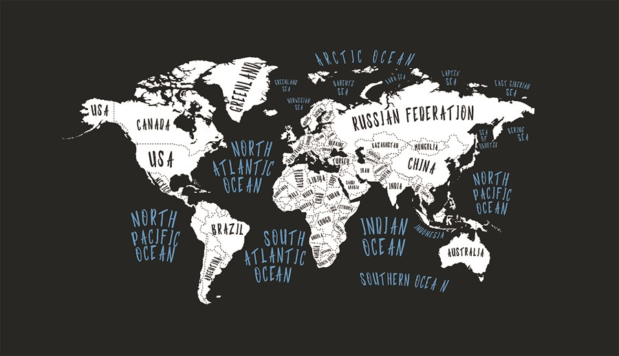 Фотообои Карта стран