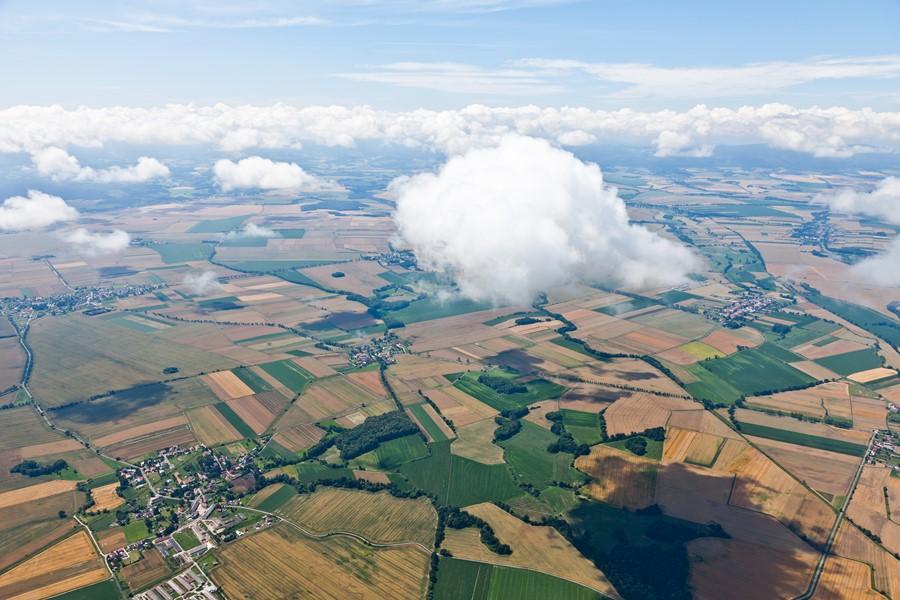 Фотообои Поля с высоты