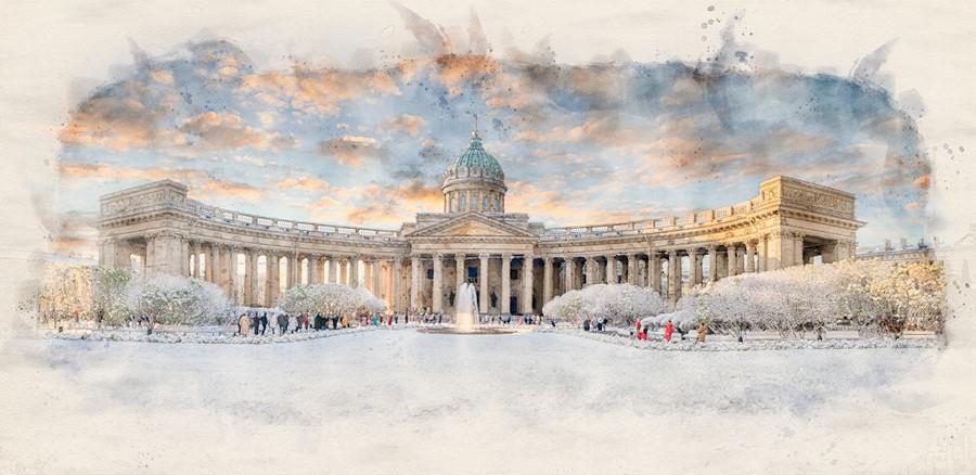 Фотообои Зимняя площадь