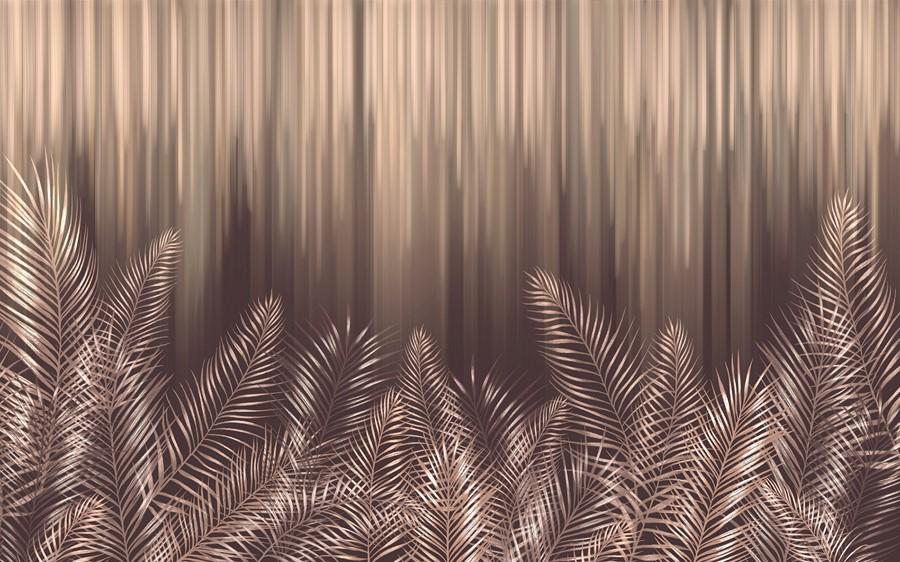 Фотообои Бронзовые пальмовые листья