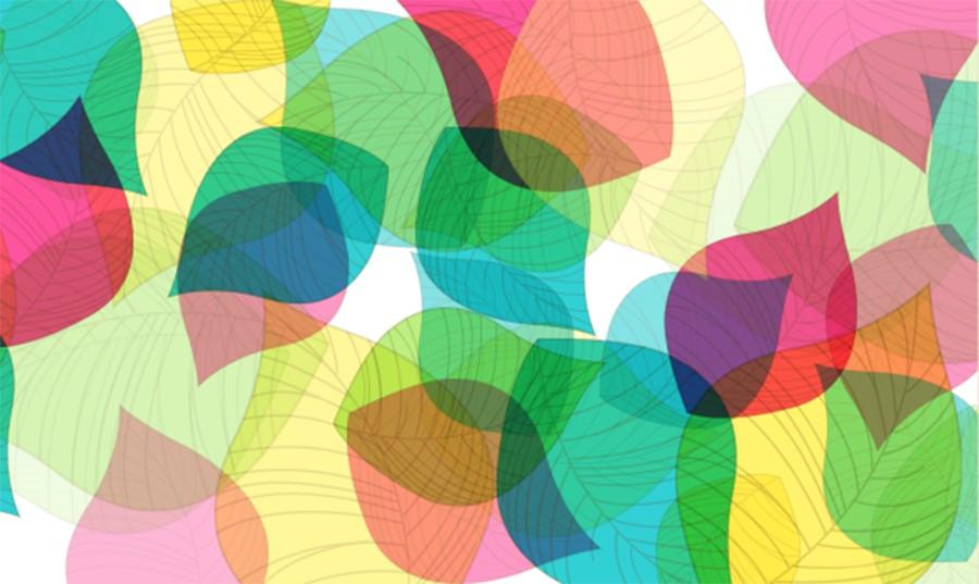 Фотообои Цветные листья