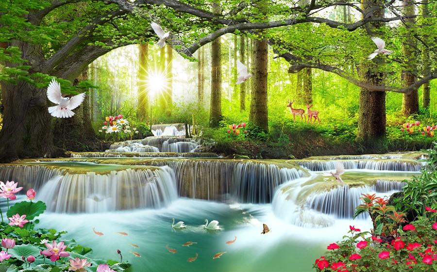 Фотообои Сказочный водопад