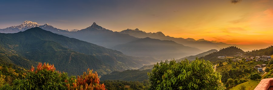 Фотообои Закатная панорама