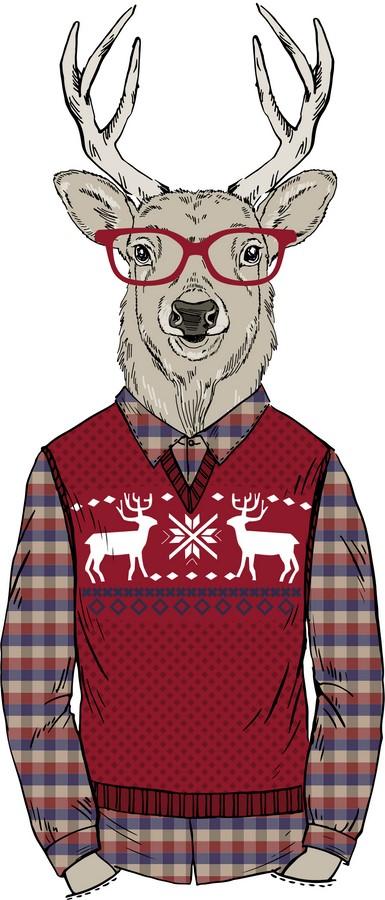 Фотообои Олень в свитере