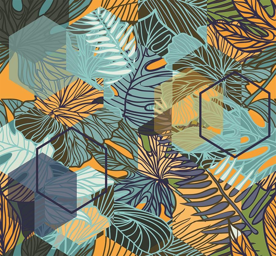 Фотообои Паттерн тропические листья