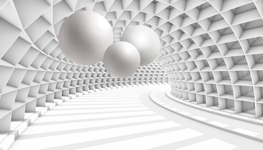 Фотообои Круги в коридоре