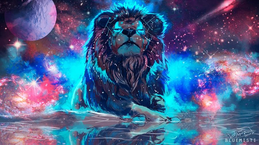 Фотообои Космический Лев