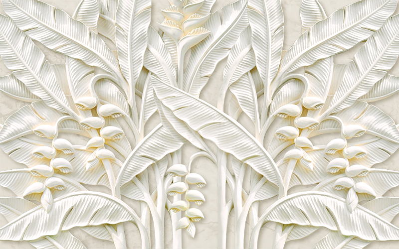 Фотообои Гипсовые цветы