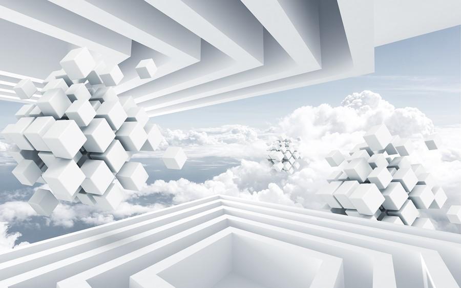 Фотообои Белые кубы