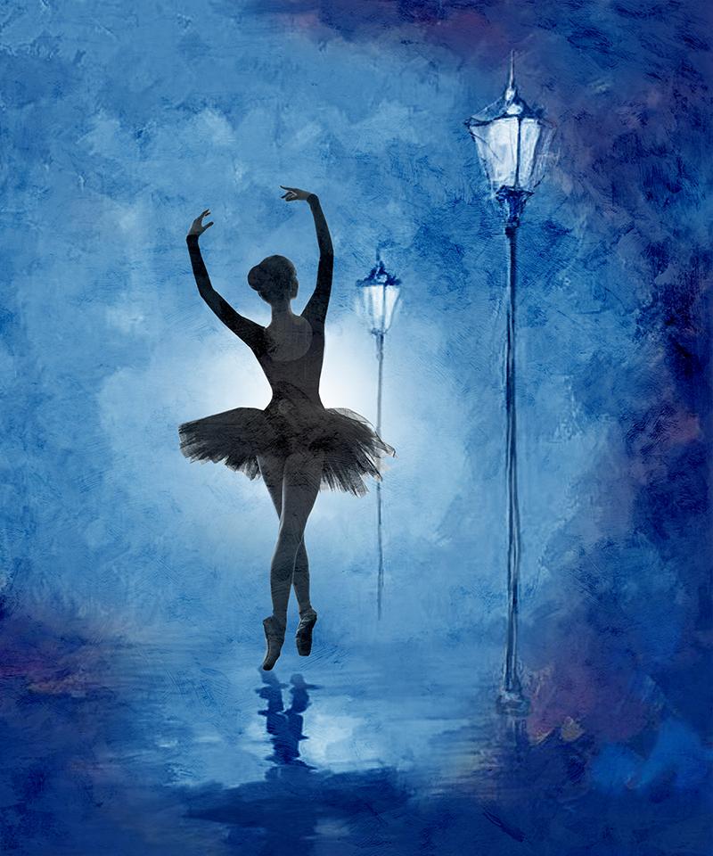 Фотообои Балерина рисунок
