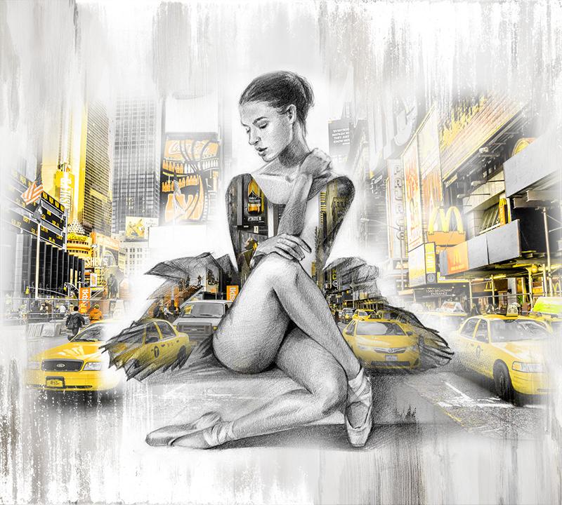 Фотообои Балерина Нью-Йорк