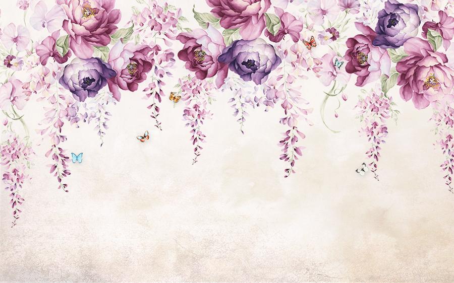 Фотообои Фиолетовые пионы