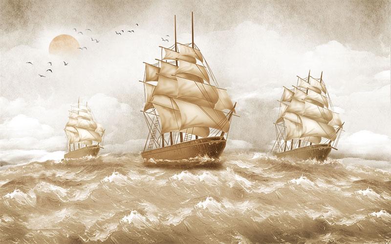Фотообои Три фрегата