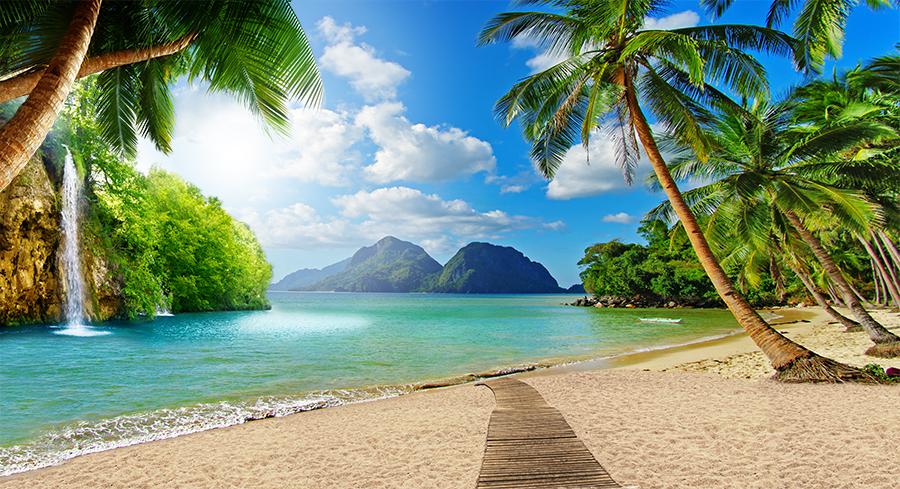 Фотообои Настил к пляжу